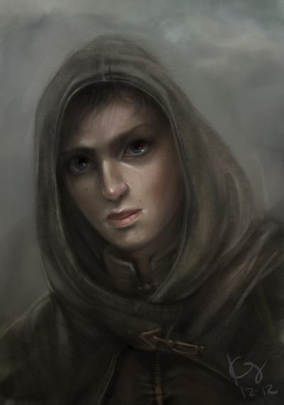 OC: Hooded Female by artastrophe