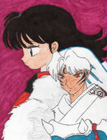 Sesshomaru and Rin by Amara-Anon