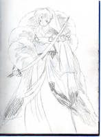 Sesshomaru Considers Tenseiga by Amara-Anon