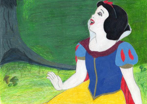 Snow White Singing by Amara-Anon
