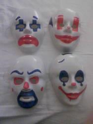 Joker Goon Masks by Amara-Anon