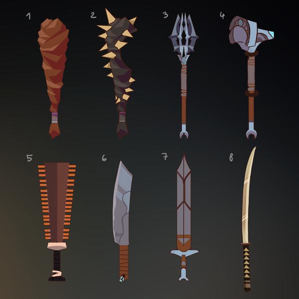 Concept art - Weapons by DAggERnoGod