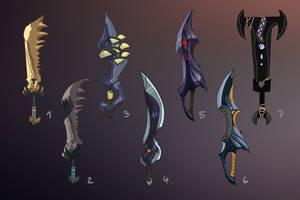 Weapon set - Great Swords by DAggERnoGod
