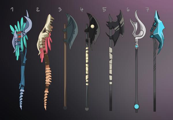 The Shadowborn art - Weapons Conceptart by DAggERnoGod