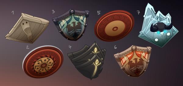 The Shadowborn - Medium Shields by DAggERnoGod
