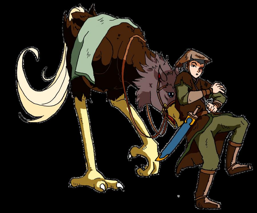 Zuko and Ostrich Horse by Thrumugnyr