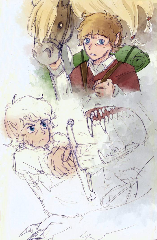 Hobbit Sketches By Thrumugnyr On Deviantart