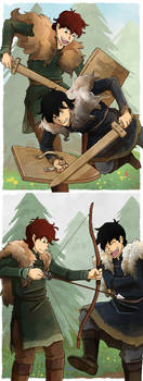 Sparring and Archery