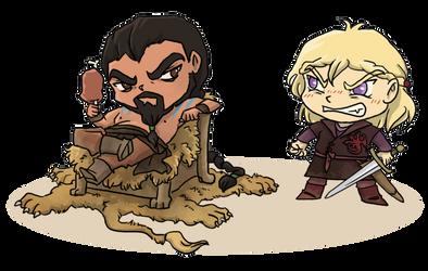 Drogo/Viserys Commission by Thrumugnyr