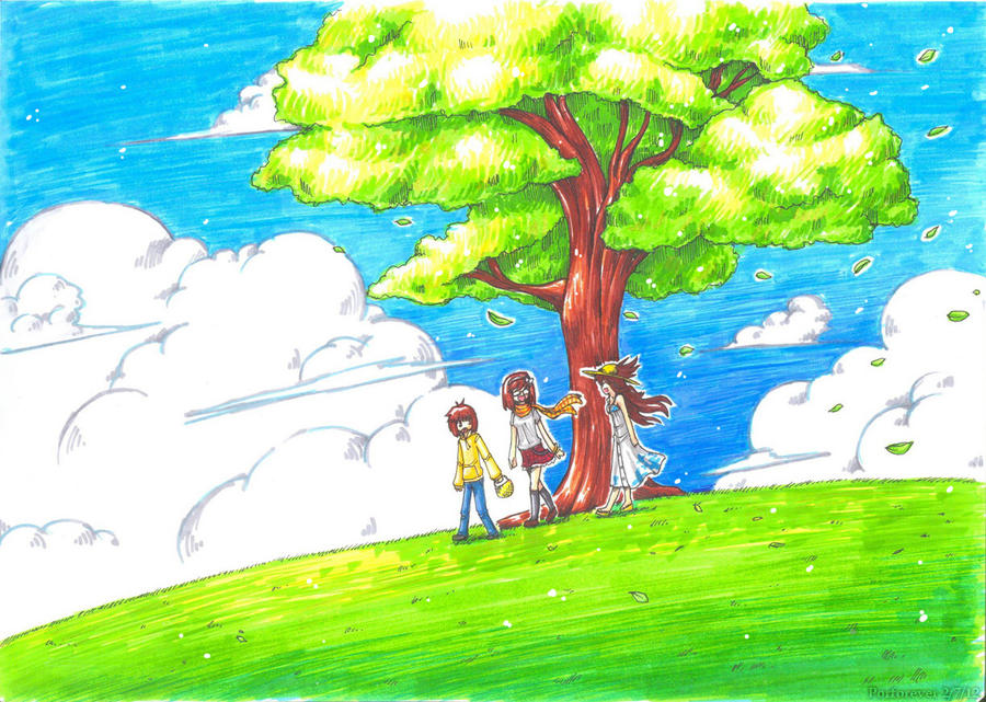 Line Drawing Sunny Day : In the sunny day by porforever on deviantart