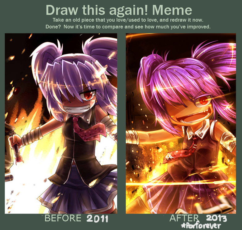 Draw this again Meme by Porforever