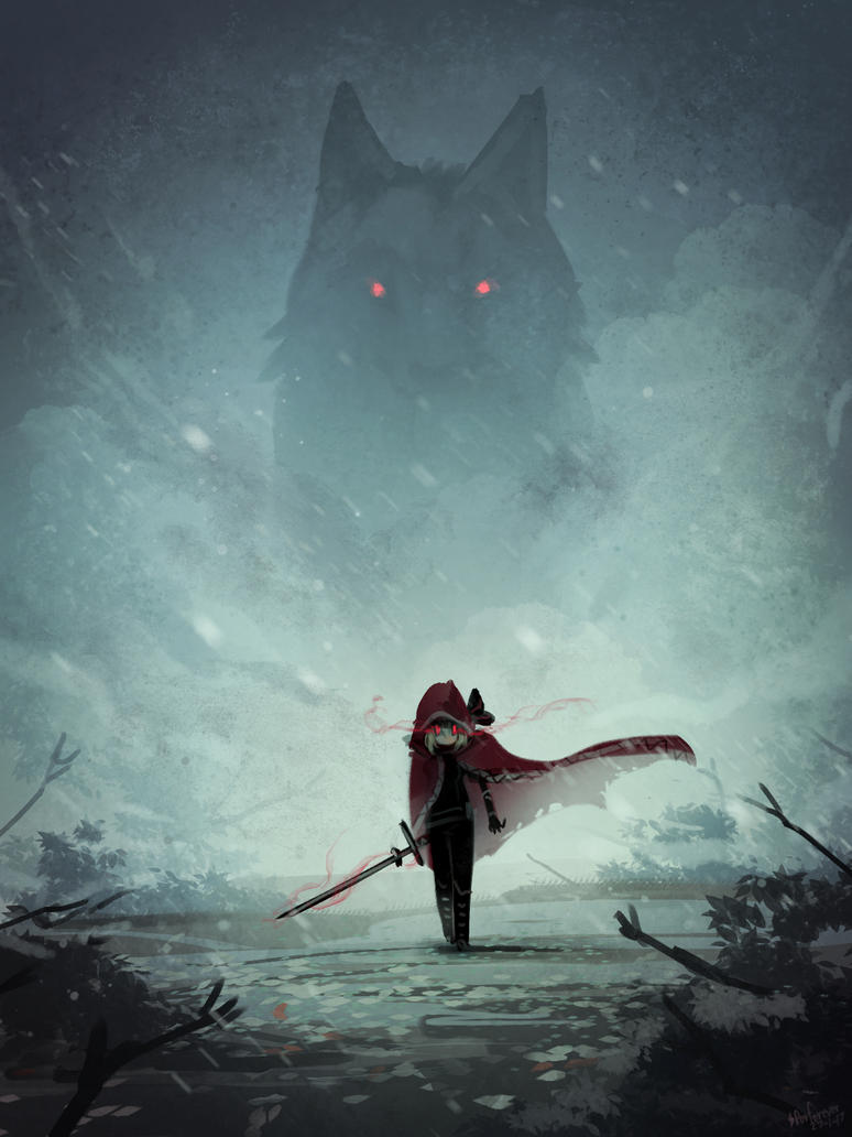 Red Hood and the Wolf by Porforever