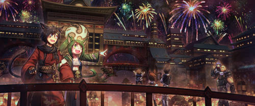 [Commission] Kugane Fireworks Festival