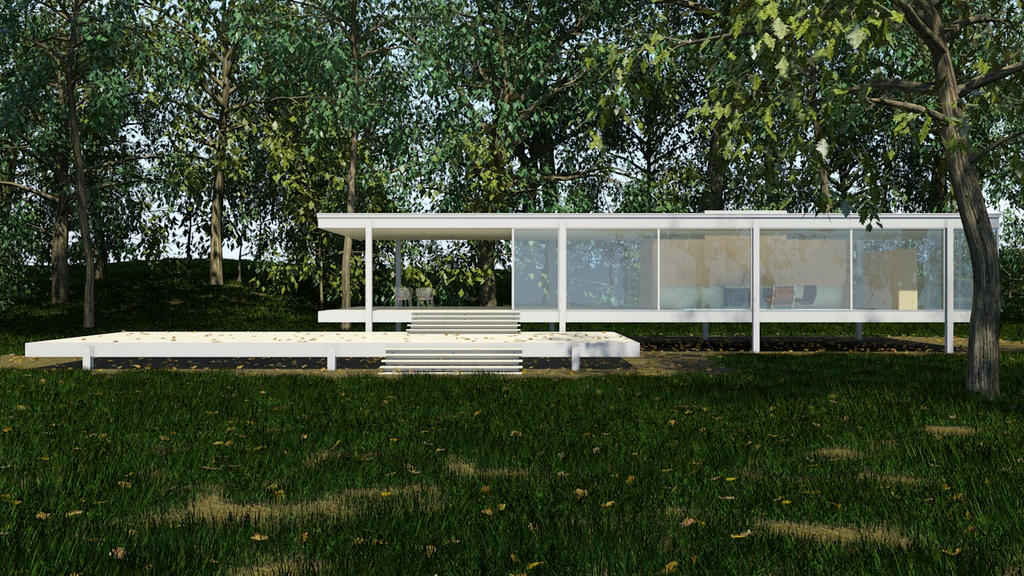 Farnsworth House 01 by sadypisten