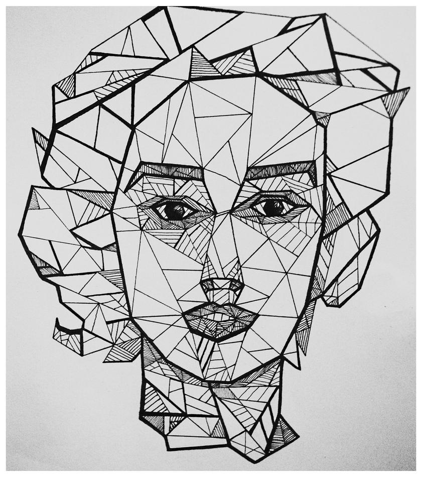 Line Art Geometric : Geometric face lines by yaldabe on deviantart