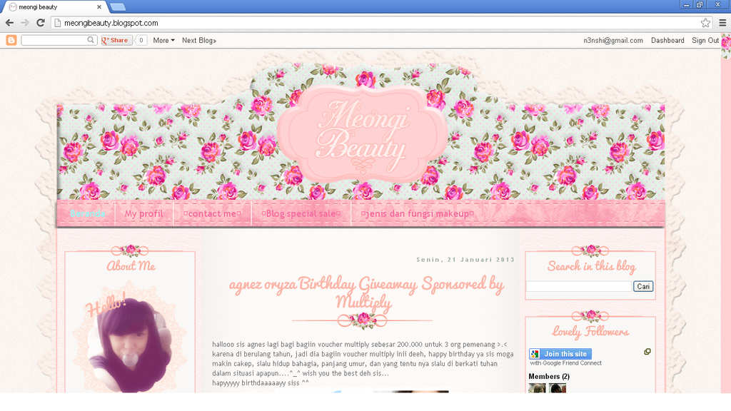 Pink Blogger Templates Pink floral blogger template by annensi on DeviantArt