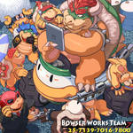 Bowser Works Team in Mario Kart 7