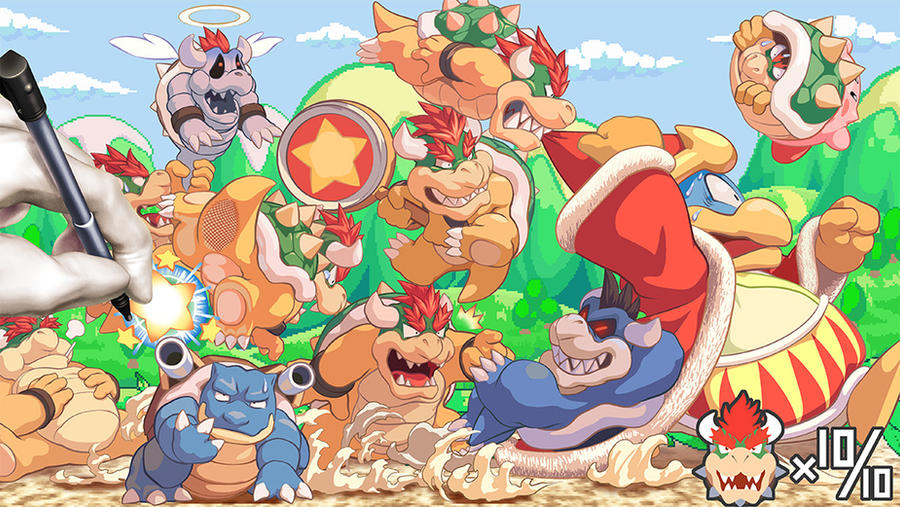 Bowser Mass Attack by MasaBowser