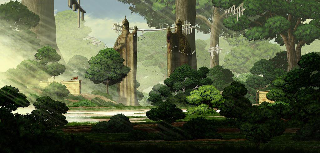 The ruins of Great Elf Kingdom by sinammonite