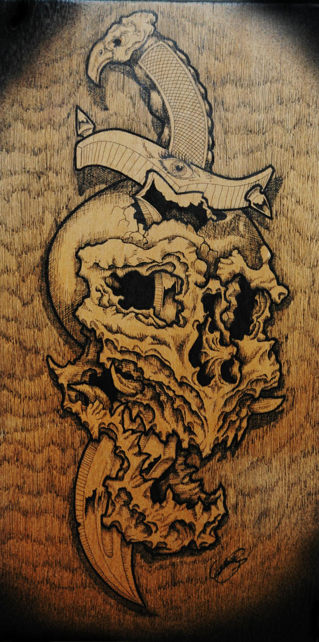 pen and ink on wood by vankuilenburg on DeviantArt