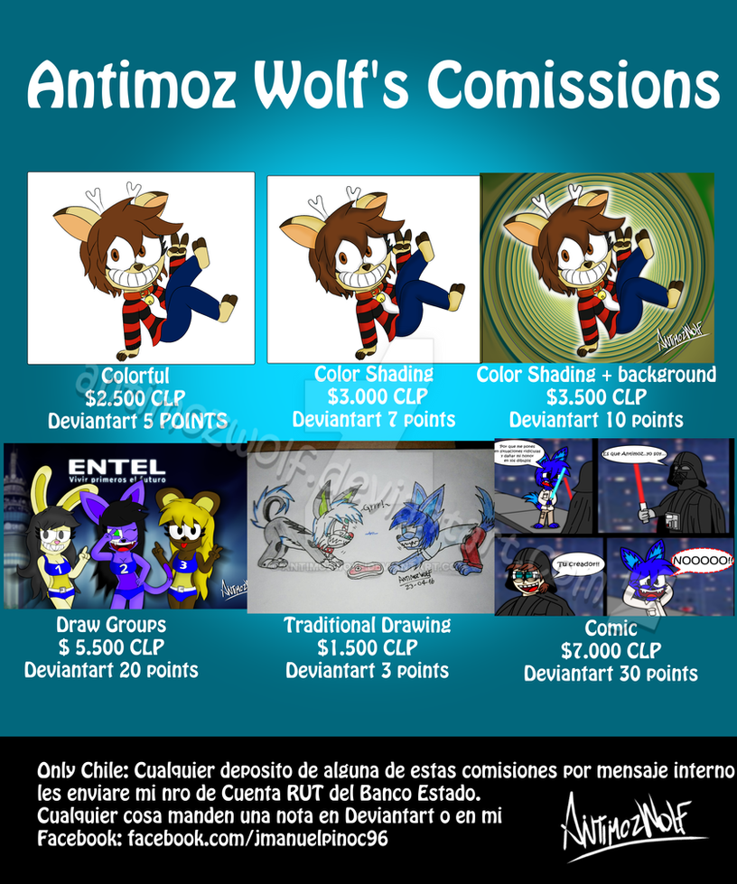 Antimoz Wolf's Comissions by AntimozWolf