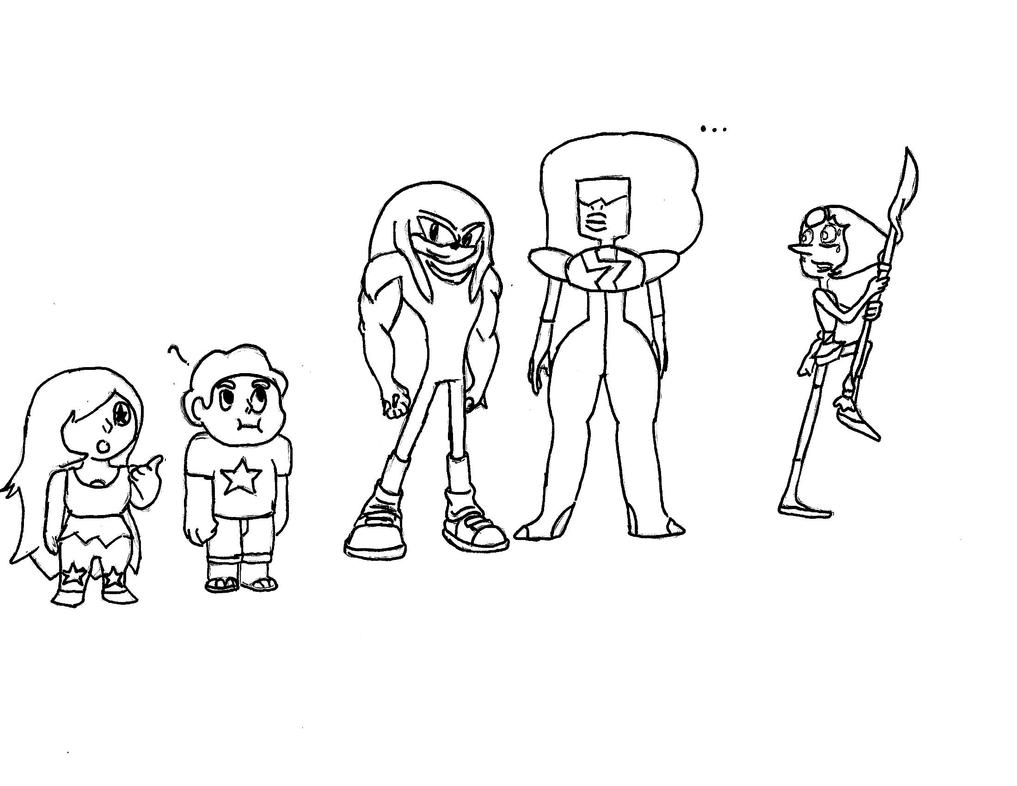 Day #28: Garnet Amethyst and Pearl and STE- by FoxTheCaveman