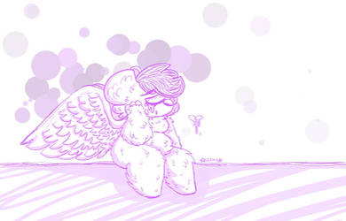 Weird angel Fluffy thing I drew in like November by Fluffy-Town