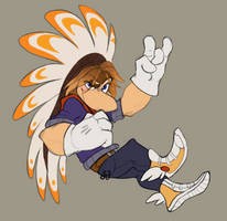 Ray (WITH LIMBS.. AND A HEADDRESS!)