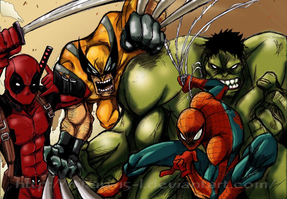 Marvel heroes by Hikari-15-L