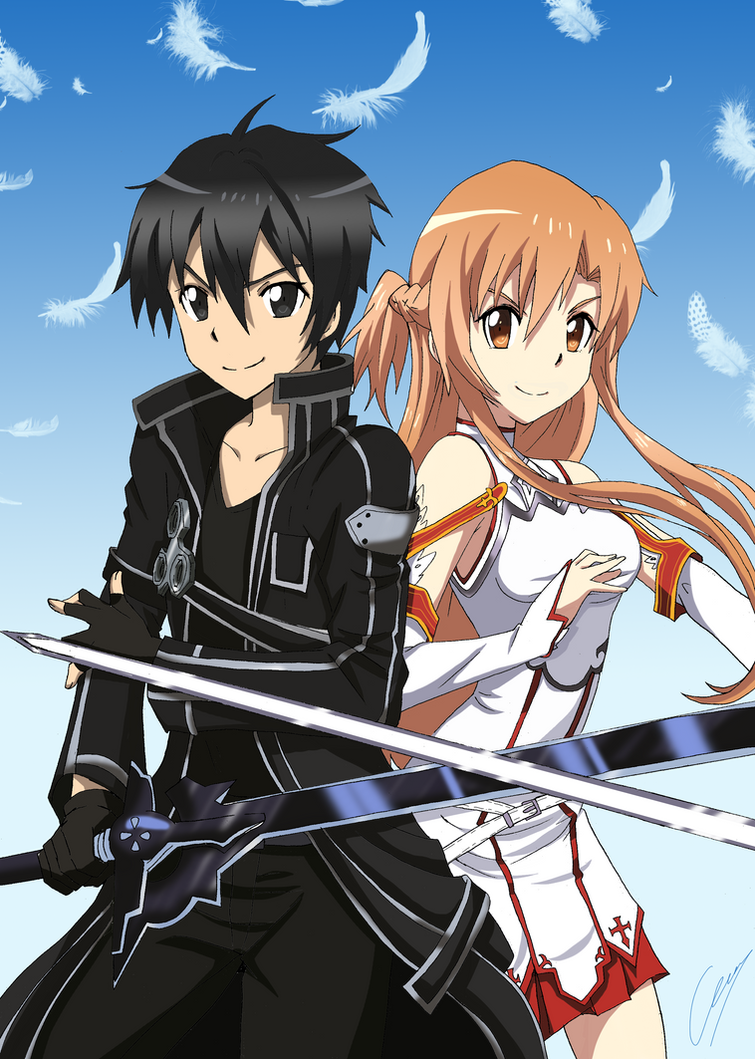 [Commission] Kirito-Asuna by Hikari-15-L