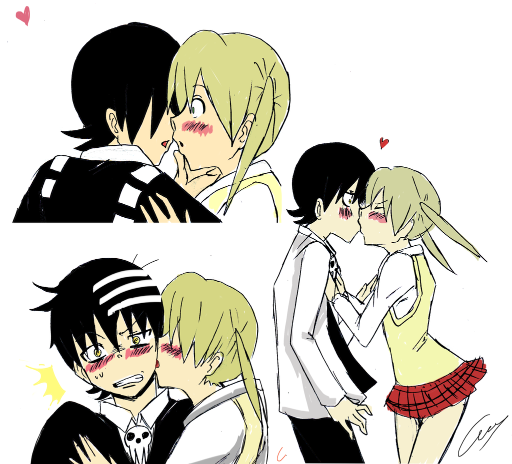 Maka And Kid Kiss Soul Eater Death The K...