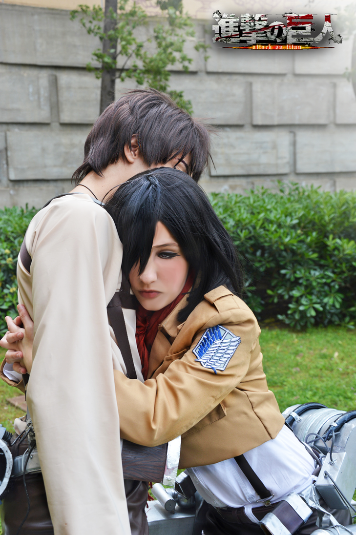 Cosplay: Mikasa and Eren by Hikari-15-L