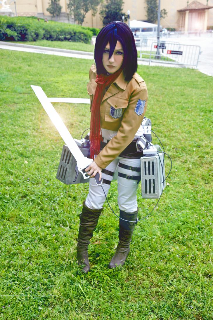 Mikasa Ackerman Cosplay by Hikari-15-L