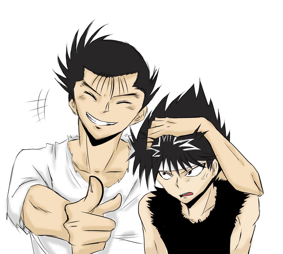 Yusuke + Hiei by Hikari-15-L