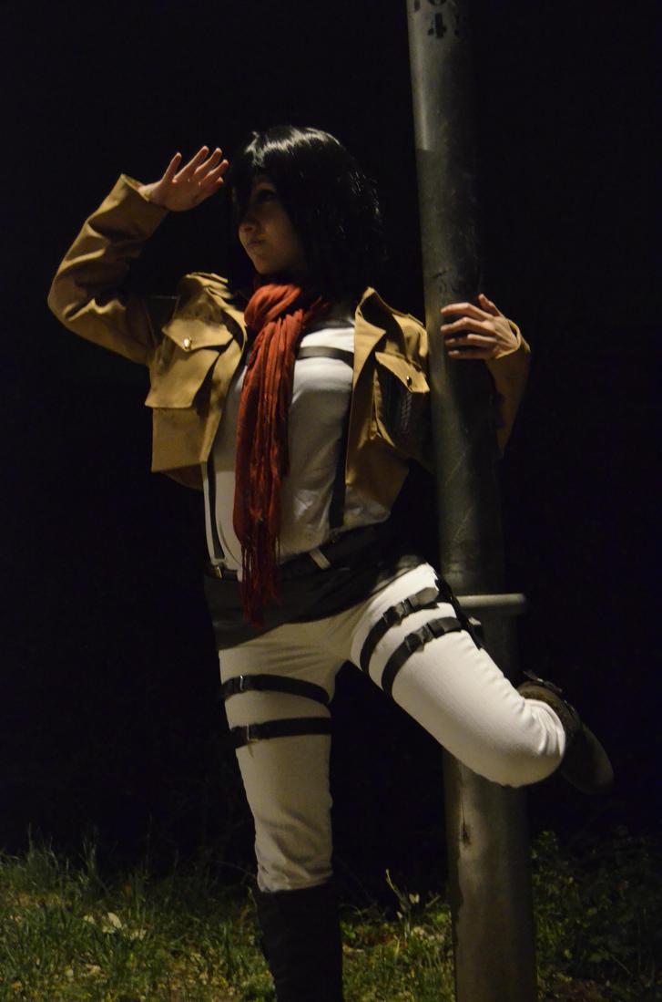 Mikasa cosplay xD by Hikari-15-L