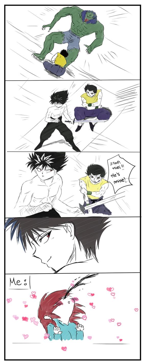 Asafgasd Yu Yu Hakusho scene Reaction by Hikari-15-L