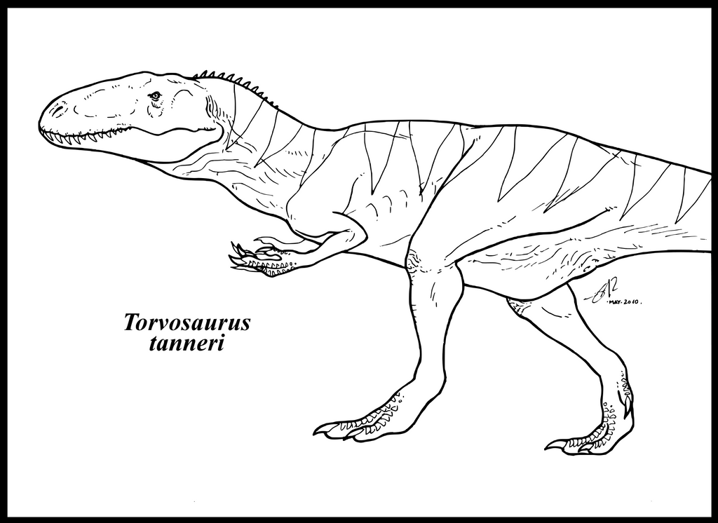 The gallery for yangchuanosaurus coloring page for Carcharodontosaurus coloring page