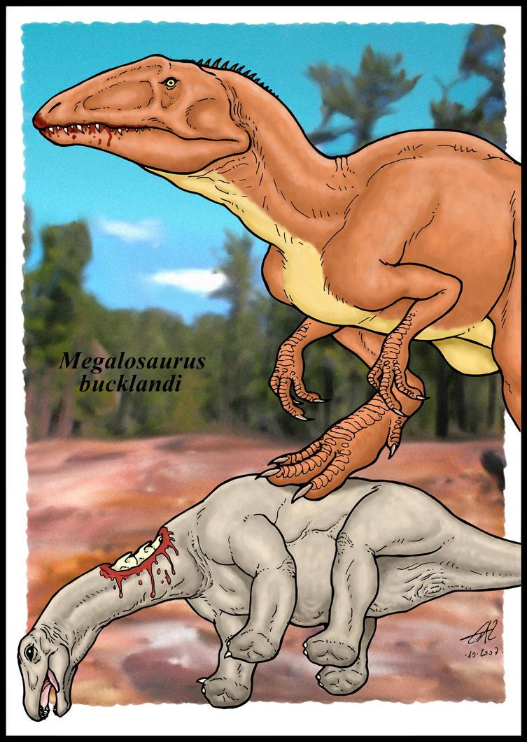 Megalosaurus by zakafreakarama