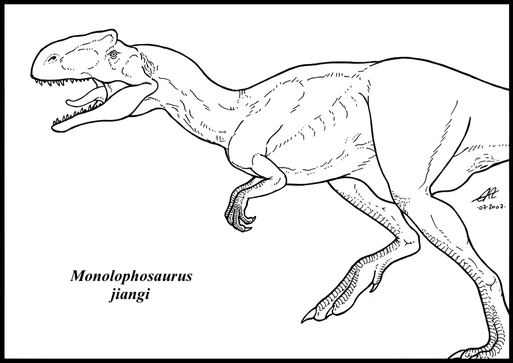 The gallery for yangchuanosaurus coloring page for Baryonyx coloring pages