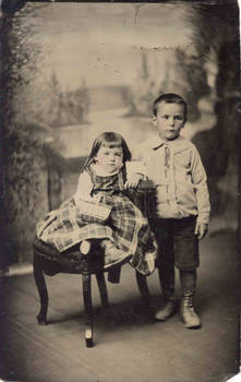 children tin type