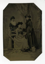 3 women tin type