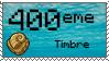 Mon 400eme Timbre by LeDrBenji