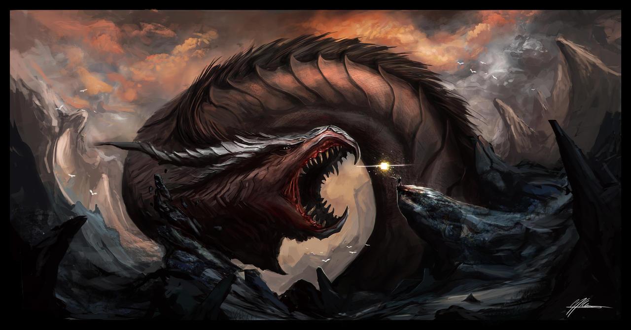 Dragon illustration by JoasKleineArt