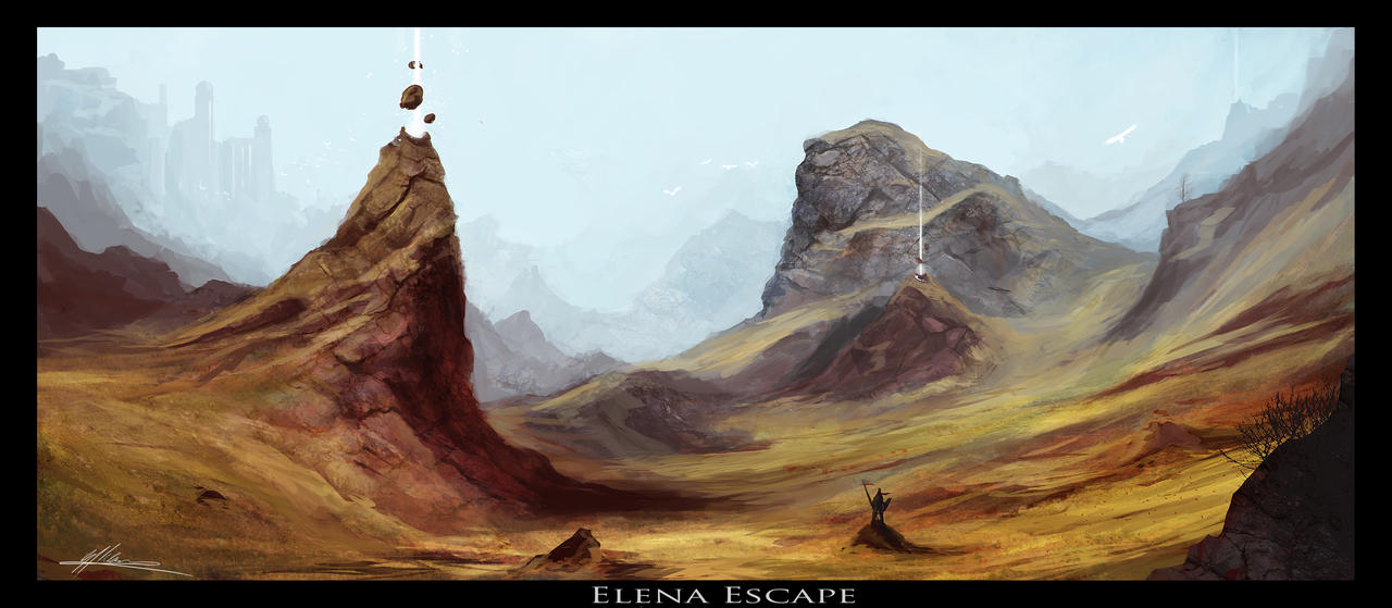 Elena Escape by JoasKleineArt