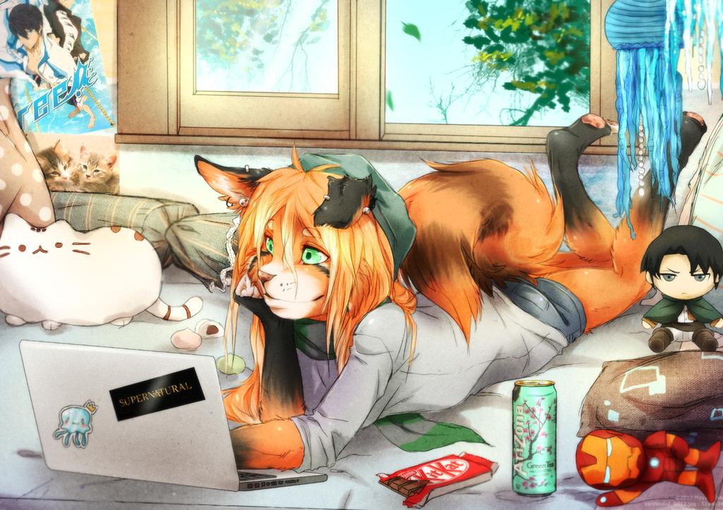 Commission for HanniBuns by Furry-CancanLou