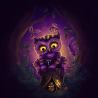Owl Creature by mary-petroff
