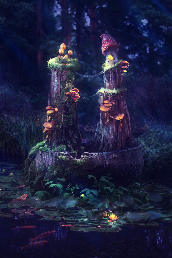 Mushroom Kingdom by mary-petroff