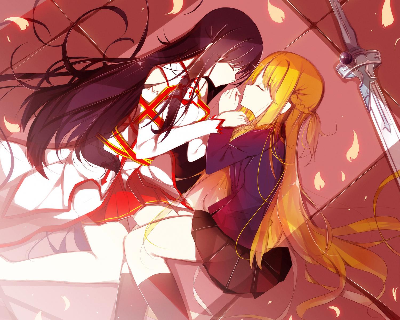 Asuna And Kuroyukihime by AsunaX-EKirito on DeviantArt