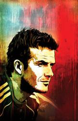 David Beckham Comic Cover by gravitydsn