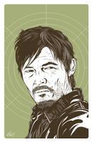 Daryl Dixon from Walking Dead by gravitydsn